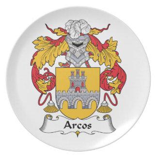 Escudo de la familia de Arcos Platos Para Fiestas