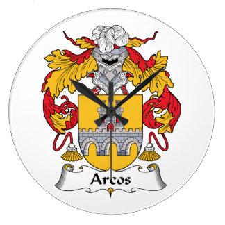 Escudo de la familia de Arcos Reloj Redondo Grande