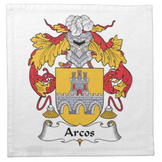 Escudo de la familia de Arcos Servilletas