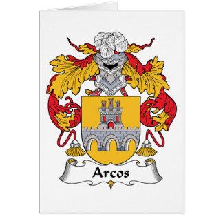 Escudo de la familia de Arcos Tarjeta De Felicitación