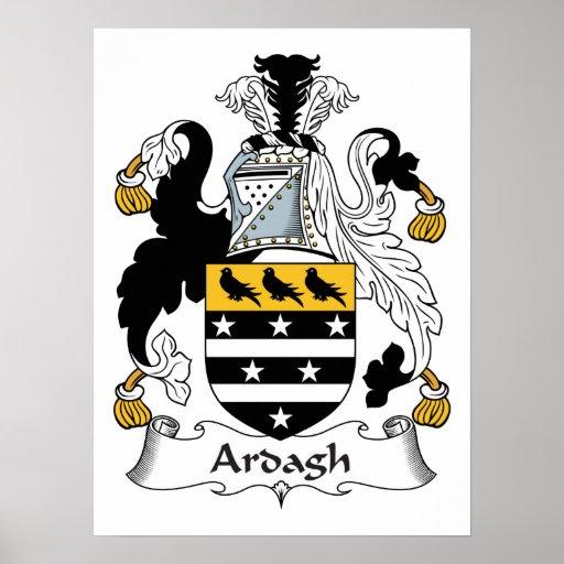 Escudo de la familia de Ardagh Póster
