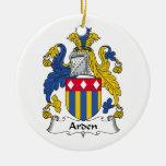 Escudo de la familia de Arden Ornaments Para Arbol De Navidad