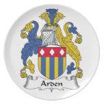 Escudo de la familia de Arden Platos De Comidas