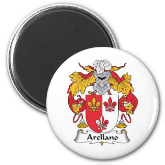 Escudo de la familia de Arellano Imán Redondo 5 Cm