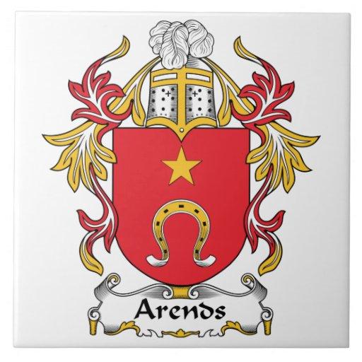 Escudo de la familia de Arends Azulejo Cuadrado Grande