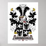 Escudo de la familia de Arenschild Posters