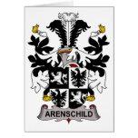 Escudo de la familia de Arenschild Tarjeton