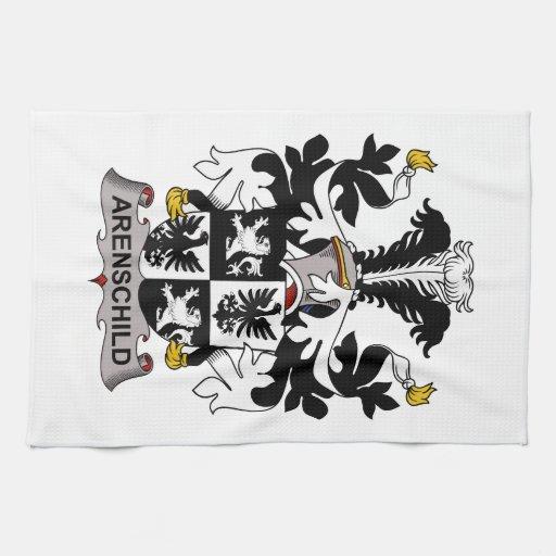 Escudo de la familia de Arenschild Toallas De Cocina