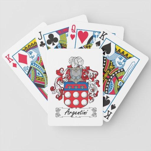 Escudo de la familia de Argentini Baraja Cartas De Poker