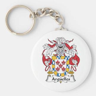 Escudo de la familia de Arguelles Llavero Redondo Tipo Pin