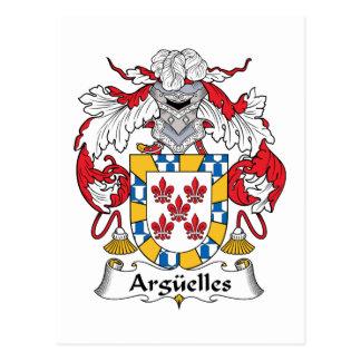 Escudo de la familia de Arguelles Postal