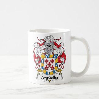 Escudo de la familia de Arguelles Taza Clásica