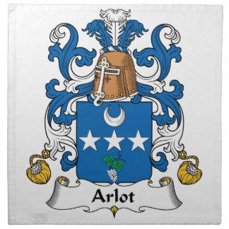 Escudo de la familia de Arlot Servilleta