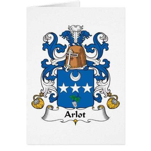 Escudo de la familia de Arlot Tarjetón