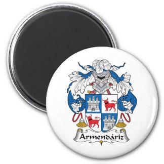 Escudo de la familia de Armendariz Imán Redondo 5 Cm