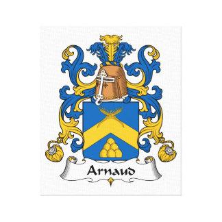 Escudo de la familia de Arnaldo Impresión De Lienzo