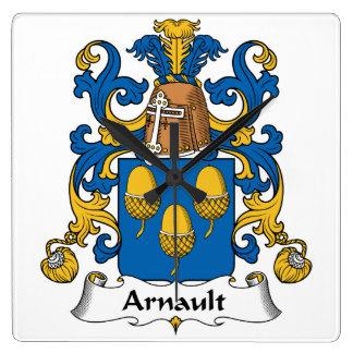 Escudo de la familia de Arnault Relojes De Pared