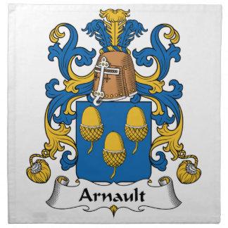 Escudo de la familia de Arnault Servilletas Imprimidas
