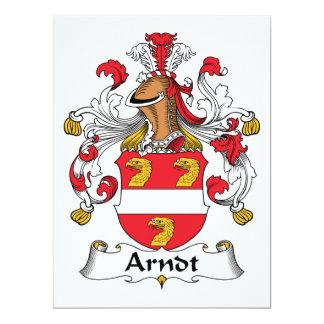 """Escudo de la familia de Arndt Invitación 6.5"""" X 8.75"""""""