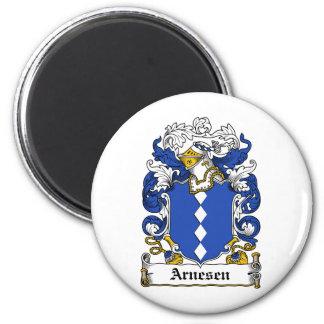 Escudo de la familia de Arnesen Imán Para Frigorifico