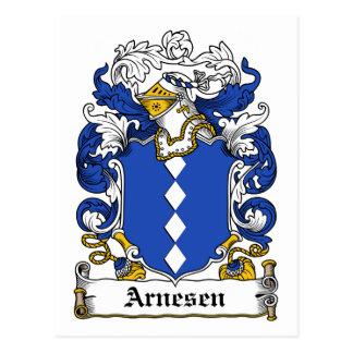 Escudo de la familia de Arnesen Tarjetas Postales
