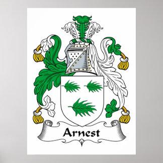 Escudo de la familia de Arnest Impresiones