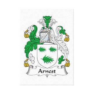 Escudo de la familia de Arnest Impresiones En Lienzo Estiradas
