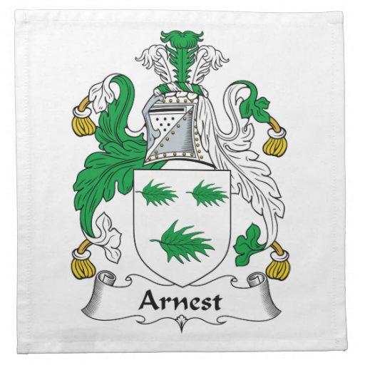 Escudo de la familia de Arnest Servilleta De Papel