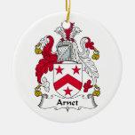 Escudo de la familia de Arnet Ornamento Para Reyes Magos