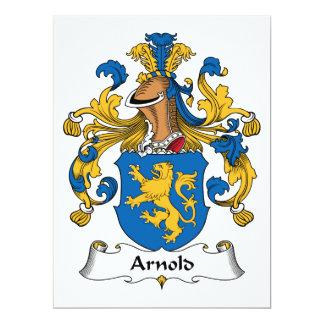 """Escudo de la familia de Arnold Invitación 6.5"""" X 8.75"""""""