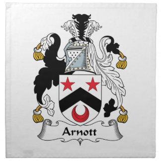 Escudo de la familia de Arnott Servilletas Imprimidas