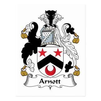 Escudo de la familia de Arnott Tarjetas Postales
