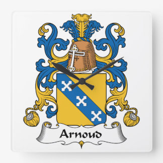 Escudo de la familia de Arnoud Reloj De Pared