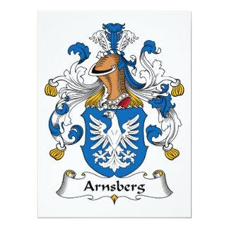 """Escudo de la familia de Arnsberg Invitación 6.5"""" X 8.75"""""""