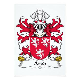 """Escudo de la familia de Arod Invitación 5"""" X 7"""""""