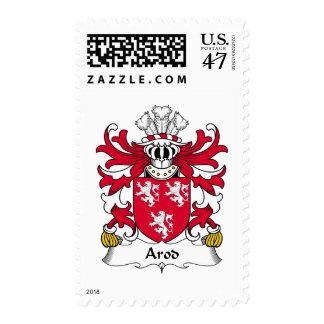 Escudo de la familia de Arod Sello Postal