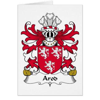 Escudo de la familia de Arod Tarjeta De Felicitación