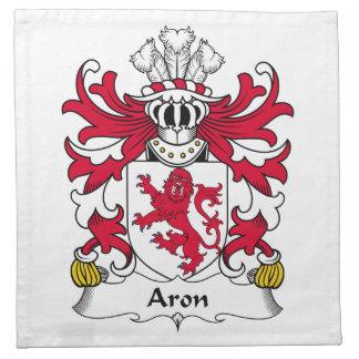 Escudo de la familia de Aron Servilleta Imprimida