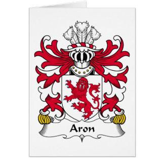 Escudo de la familia de Aron Tarjeta De Felicitación