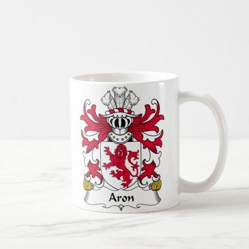 Escudo de la familia de Aron Taza Básica Blanca
