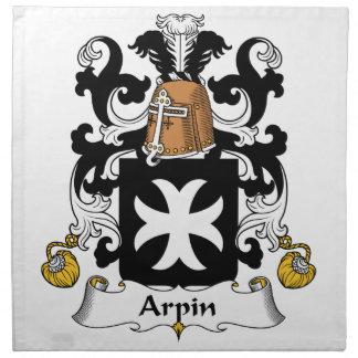 Escudo de la familia de Arpin Servilleta