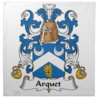 Escudo de la familia de Arquet Servilletas