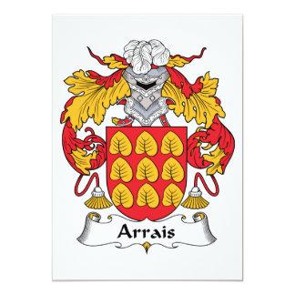 """Escudo de la familia de Arrais Invitación 5"""" X 7"""""""