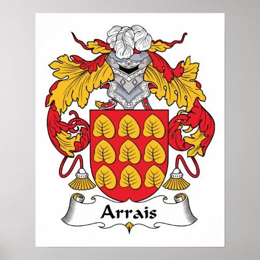 Escudo de la familia de Arrais Posters