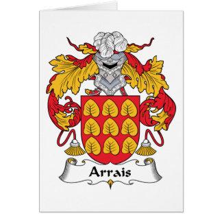Escudo de la familia de Arrais Tarjeta De Felicitación