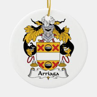 Escudo de la familia de Arriaga Ornamento Para Arbol De Navidad
