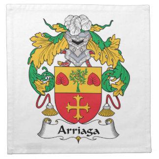 Escudo de la familia de Arriaga Servilleta