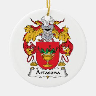 Escudo de la familia de Artasona Adorno Redondo De Cerámica