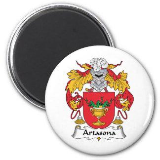 Escudo de la familia de Artasona Imán Redondo 5 Cm