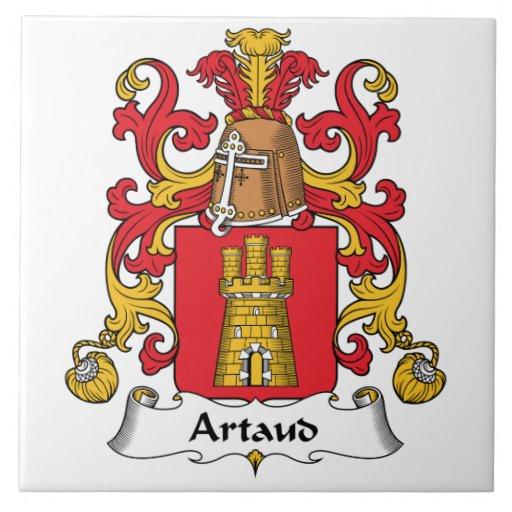 Escudo de la familia de Artaud Azulejo Cuadrado Grande